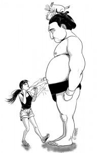 Sofsof affronte un sumo
