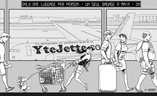 Naples - Sofsof prend un avion Easyjet