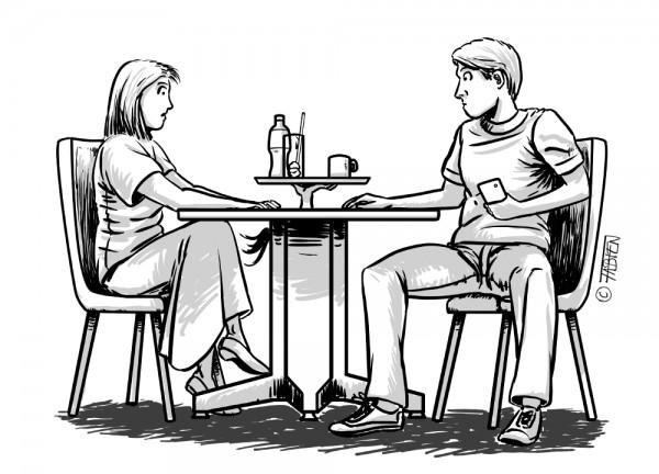 Sofsof serveuse dans un café