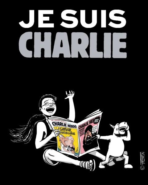 Sofsof rit en lisant Charlie Hebdo