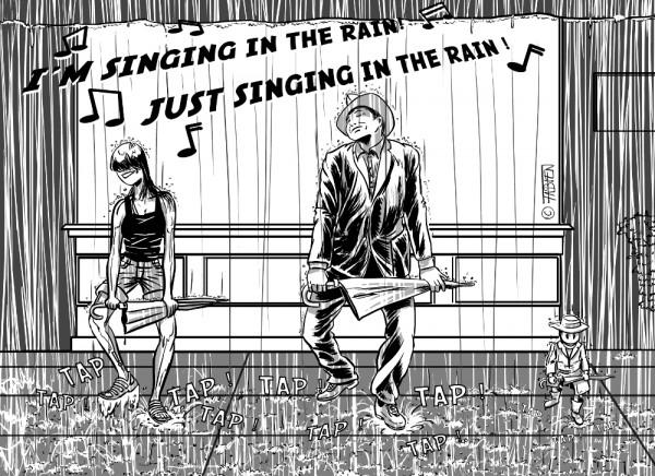 Sofsof danse sous la pluie